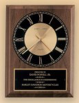 American Walnut Vertical Wall Clock Executive Plaques
