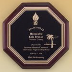Octagonal Rosewood Piano Finish Plaque Executive Plaques