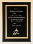 Black Piano Finish Plaque with Brass Plate Executive Plaques