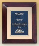 Cherry Finish Wood Frame Plaque Executive Plaques