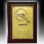 Dark Cherry Wide Edge Plaque Executive Plaques
