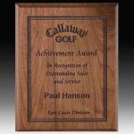 Direct Laser Walnut Plaque Executive Plaques