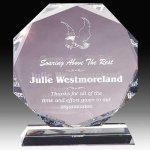 Crystal Multi Faceted Award Golf Crystal