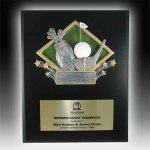 Plaque with Diamond Resin Relief Golf Plaques