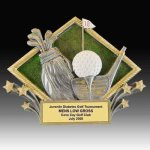 Golf Diamond Resin Golf Trophies