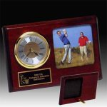 Photo Desk Clock Golf Trophies