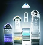 Fluted Pillar Acrylic Award Golf Trophies
