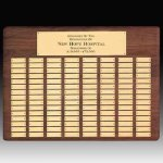 Solid Walnut Perpetual Plaque Medium Perpetual Plaques