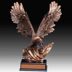 Large Eagle Trophy Metallic Painted Series