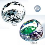 Gem-Cut Round Paperweights