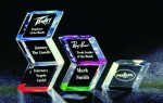 Slanted Hex Paper Weight Acrylic Award Paperweights