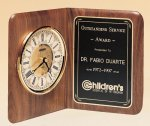 American Walnut Book Clock Religious Awards