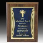 Curved Accent Plate Plaque Religious Awards