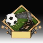 Soccer Diamond Resin Resin Trophies