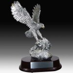 Antique Silver Eagle Trophy Resin Trophies