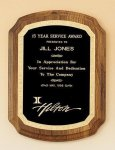American Walnut Plaque with Florentine Border Sales Awards