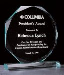 Octagon Series 3/4 Thick Acrylic Award Sales Awards