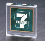 Emerald Marble Square Acrylic Paperweight Sales Awards