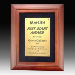 Rosewood Finish Frame Plaque Sales Awards