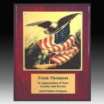 Piano Finish Eagle Plaque Sales Awards