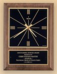 American Walnut Vertical Wall Clock with Square Face. Secretary Gifts